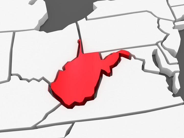 3d west virginia map