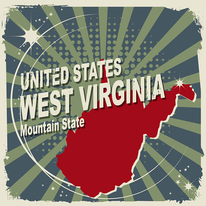 abstract west virginia map